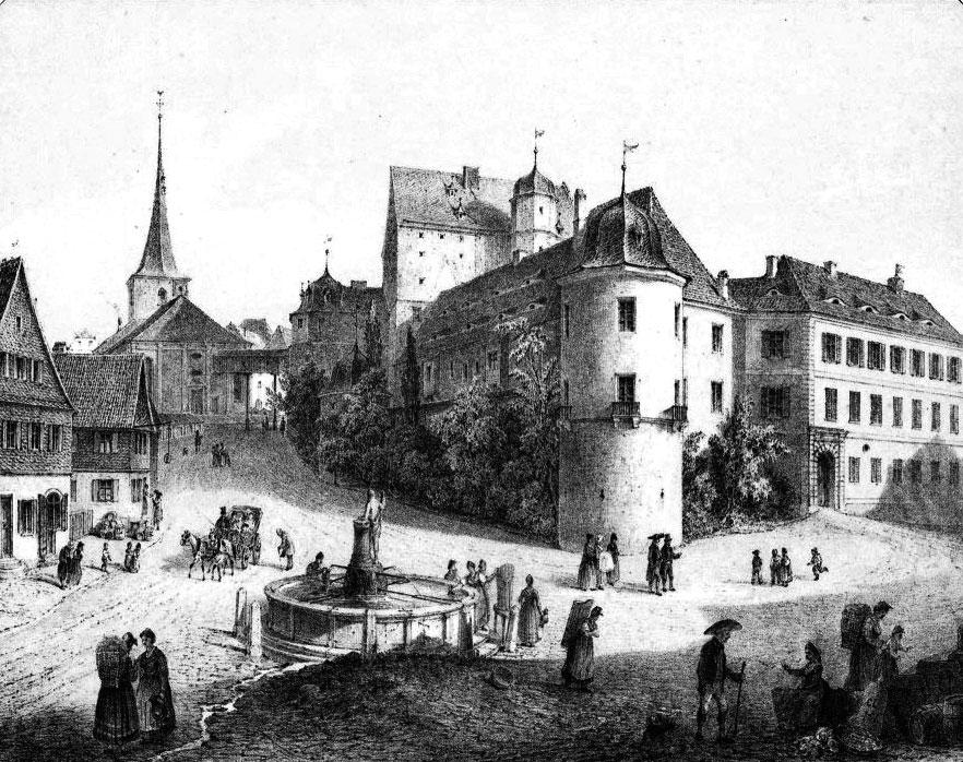 Lithografie von Carl August Lebschée, 1855
