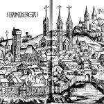 Holzschnitt der Stadt Bamberg in der Schedelschen Weltchronik, 1493